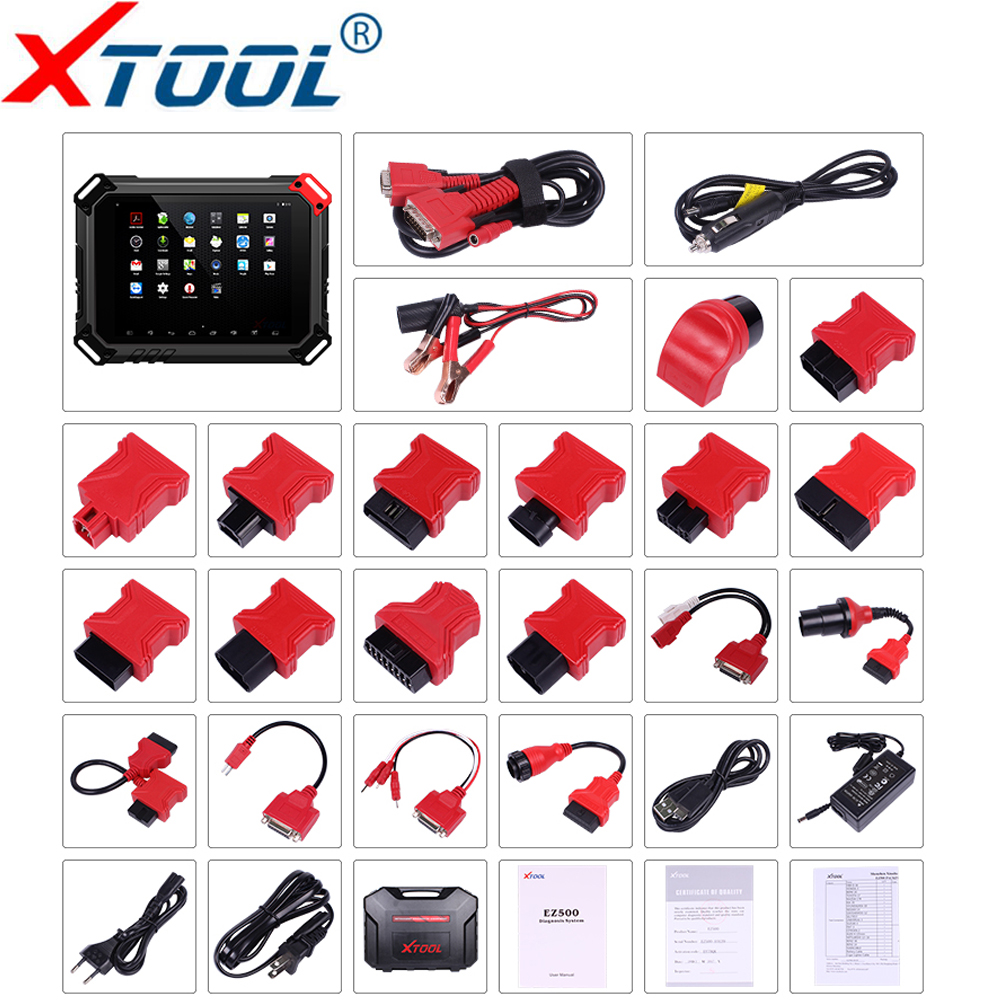 XTOOL EZ500 Pro Full-System Diagnostic tool Gasoline Vehicles support Special Function Same Function With XTool PS80 Update free