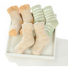 New Baby Organic Color Cotton Socks Spring and Autumn Childrens Soft Breathable