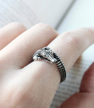 Min 1PC Wild Crocodile Ring  Alligator  Adjustable Jewelry Rings Comfortable Lucky Animal Ring For Men Women Gift