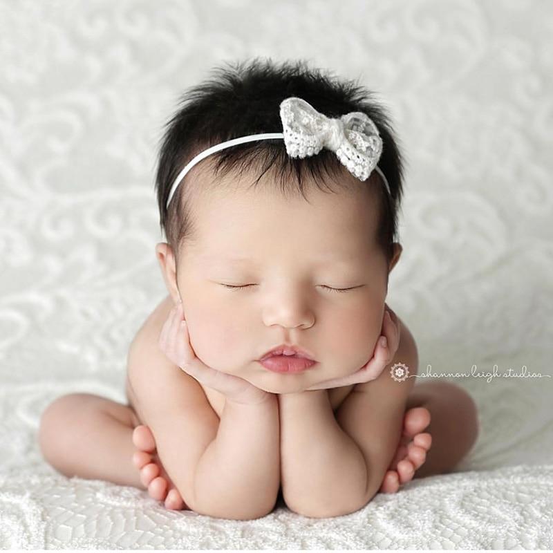 Baby Pearl Headband Newborn Kids Baby Girls Headwear Accessories Photo props ET