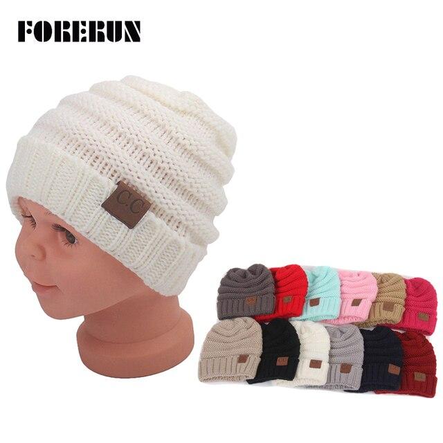 Cappelli del bambino Lavorato A Maglia Neonato Cappelli Lettere Etichette  Ragazzi Cappello di Autunno invernali Cappelli ba21a58ec098