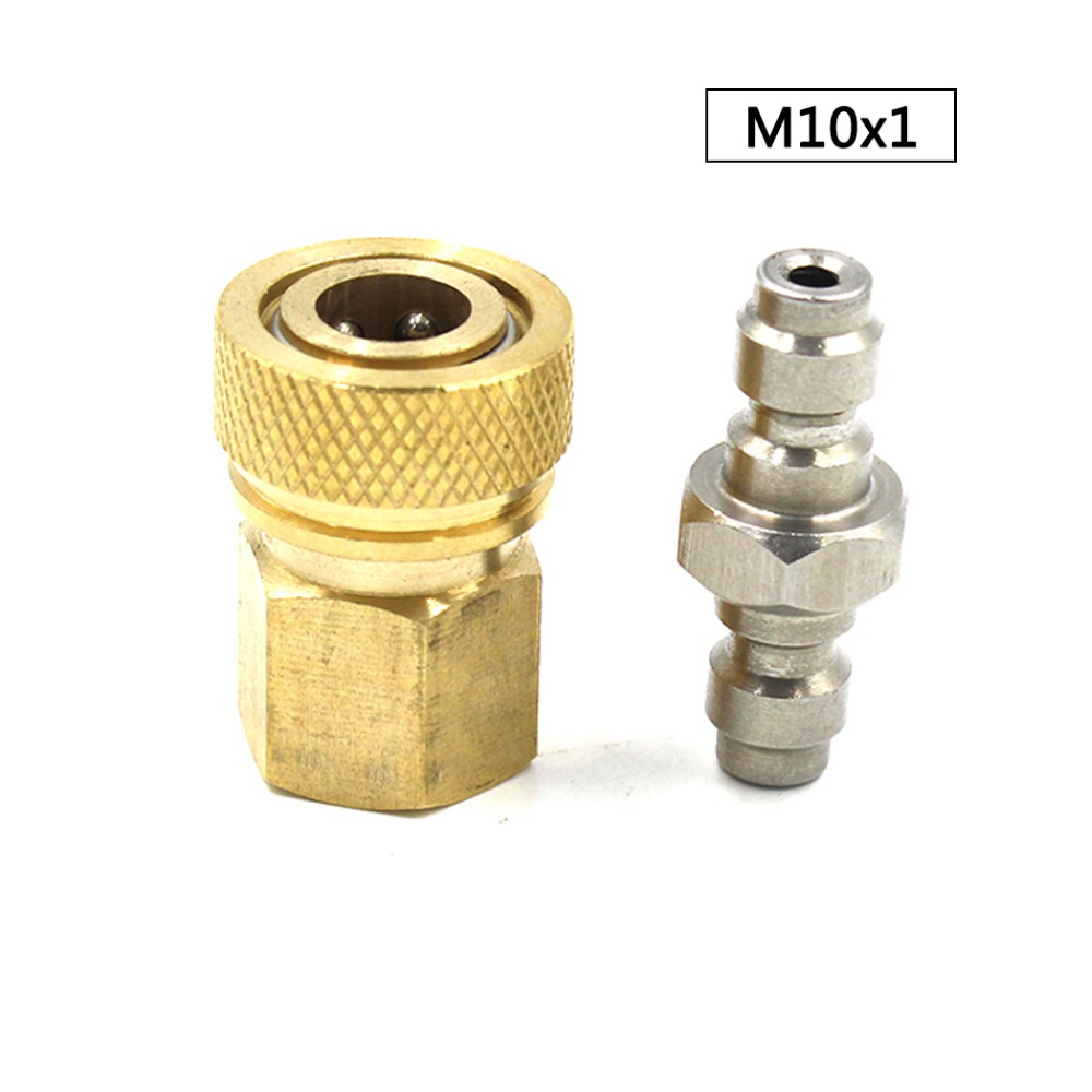 PCP Airforce Paintball Stainless Steel Double End Male Plug M10x1 Female Quick Disconnect Air Refill Coupler Connector Set