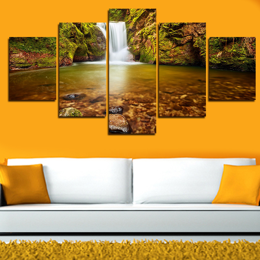 Wall Paintings For Sale Us 19 99 2017 Real Paintings Sale Canvas Painting 5 Panels Wall Art Cuadros Beautiful Burst Cloth Picture For Living Room Print In Painting