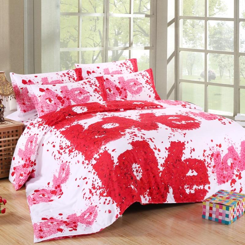 3d Bedding Set Bed Sets Eiffel Tower Rose Butterfly Sunflower Panda Bedclothes Duvet Cover Sheet Queen King Size Love Bed Linen