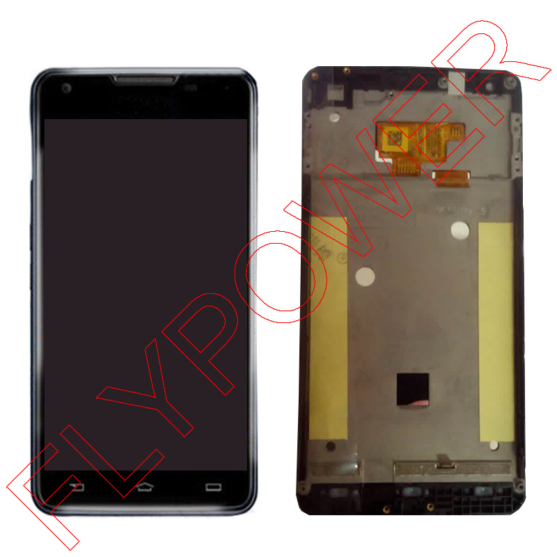 ФОТО For philips w6618 W6610 LCD Screen Display With Touch Screen Digitizer + Frame assembly by Free Shipping; 100% Warranty