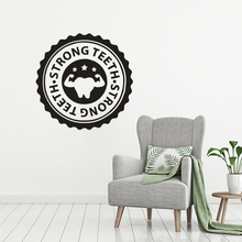 Strong Teeth Wall Decal Dental Care Center Stickers Stomatology Decor Tooth Vinyl Poster Removable AY1546