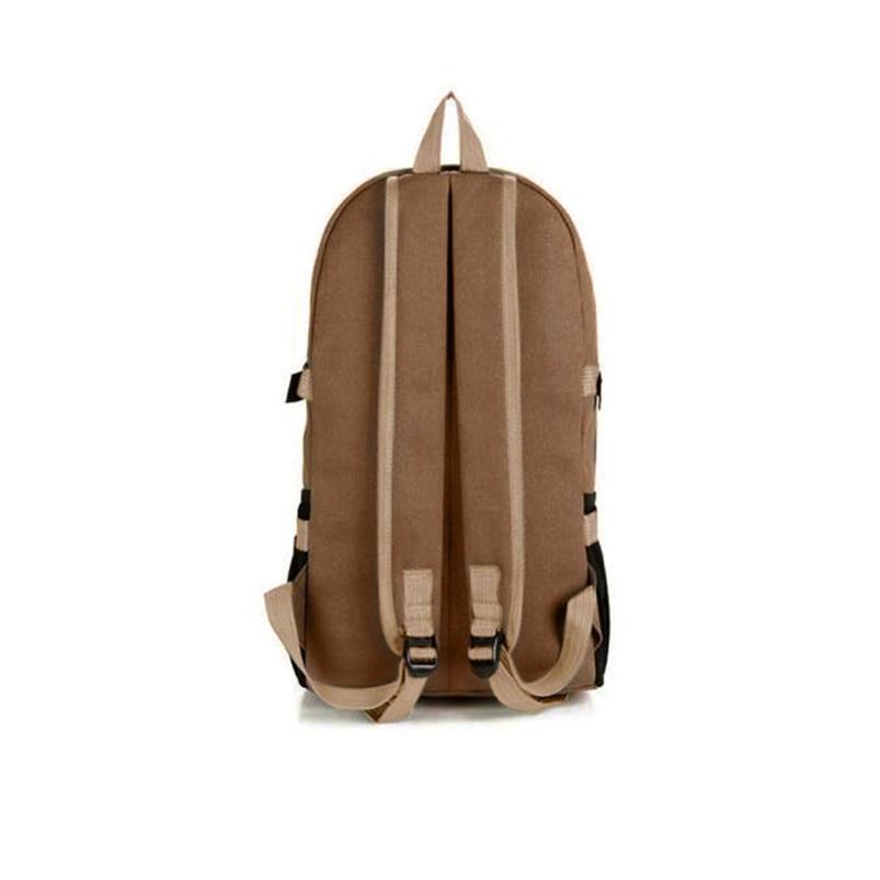 Outdoor Double-Shoulder bag Vintage Travel Canvas Leather Backpack Sport Rucksack Satchel School Hiking cycling Bag #5O08 (3)