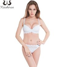 b94a08cc4d69a Xiushiren Sexy Womens Deep V Bras Sets Solid Brassiere Push Up Seamless  Underwear bra