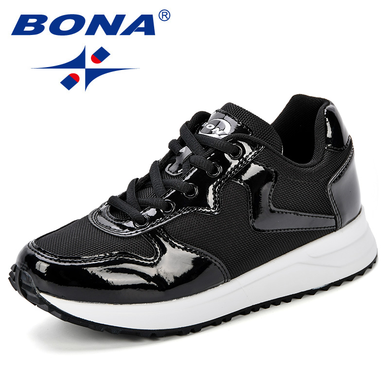 BONA New Designer Running Shoes Women Outdoor Sneakers Comfy Sport Shoes Female 2018 Breathable Trendy Zapatillas