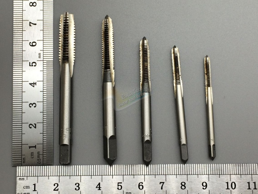 g HSS H2 machine screw tap wrench trapezoidal tapping M3 M4 M5 M6 M8 grinding & hand carving tap tool 5 pcs/set t  цены