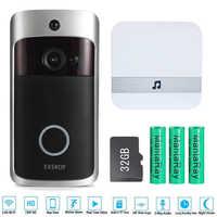 Smart IP vidéo interphone WI-FI vidéo porte téléphone porte cloche WIFI sonnette caméra pour appartements IR alarme sans fil caméra de sécurité