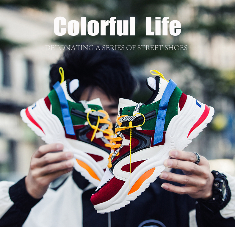HTB1eTGddv1H3KVjSZFHq6zKppXaG Sooneeya Four Seasons Youth Fashion Trend Shoes Men Casual Ins Hot Sell Sneakers Men New Colorful Dad Shoes Male Big Size 35-46