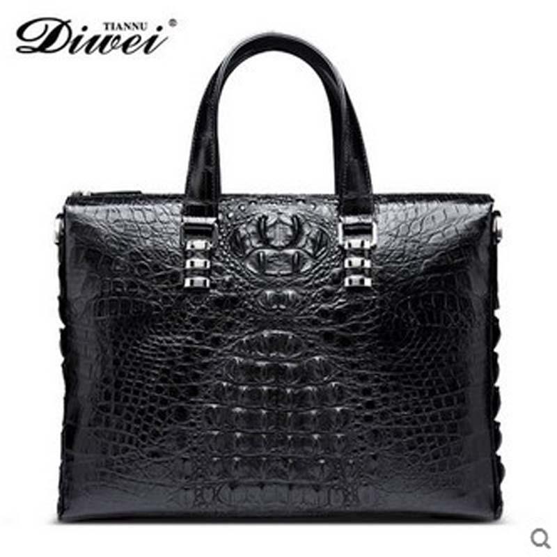 diwei 2018 new hot free shipping crocodile women handbag business and leisure cross section dudu  one shoulder men bags