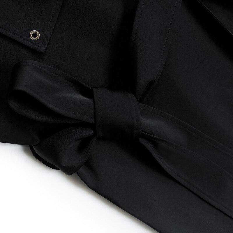 Autunno Vita Grande Collare Vestito 2019 Oxant Donne Risvolto Dress Delle Alta E Del Mini Fasce Vestiti Modo A Nero Asimmetrico Ol Fiocchi Abbigliamento Di Black qr0Rw0Ix7