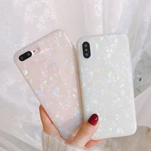 JASTER Glitter Phone Case For iPhone 7 8 Plus Dream Shell Pattern Cases For iPhone XR XS Max 7 6 6S Plus Soft TPU Silicone Cover uslion glitter phone case for iphone 7 8 plus dream shell pattern cases for iphone xr xs max 7 6 6s plus soft tpu silicone cover