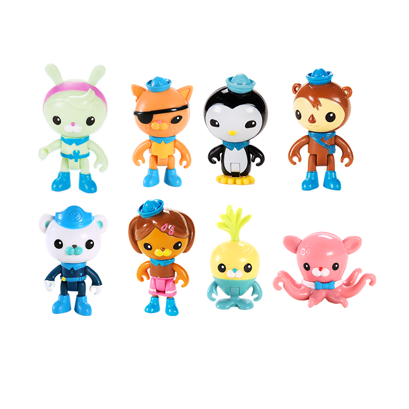 8 figures per pack original Octonauts action figures child toy gift все цены