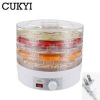 CUKYI Pet Food Dehydrator Fruits vegetables dryer adjustable 5 trays Layer Dried meat Snacks drying machine 110V 220V EU US plug