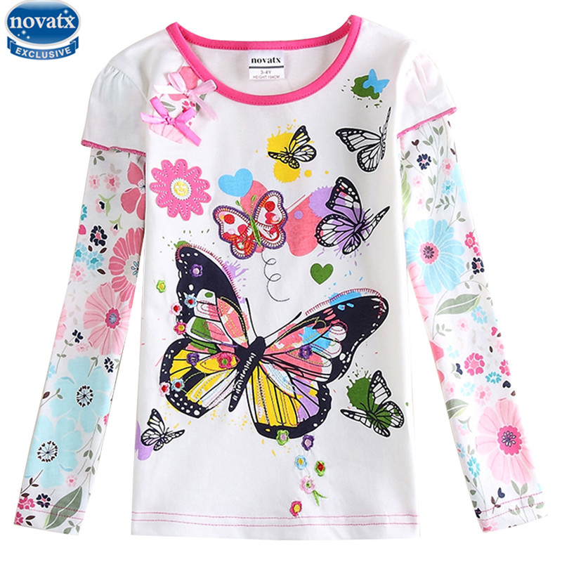 novatx F5932 Children polka dot T shirts Girls nova kids wear children clothes new baby girls clothes tops girls t shirts new 2015 summer children t shirts baby clothes child 100
