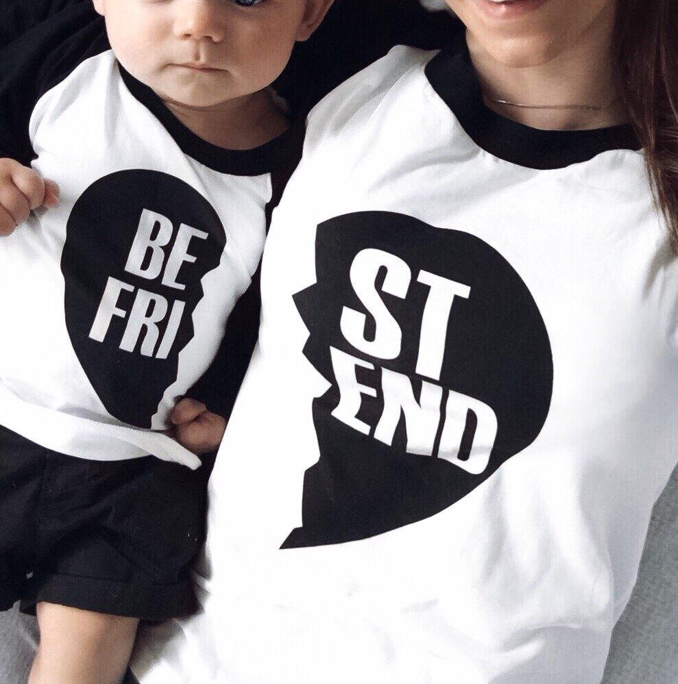 Design t shirt best - Best Friends T Shirt Women European Harajuku Novelty Basic Top Designer Cute Print Long Sleeve Ladies