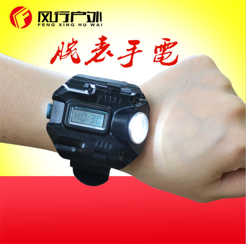 Security & Protection Biosafe Outdoor Waterproof Compass Led Watch Lamp Night Running Hiking Camping Built-in Battery Recharge Wristwatch Flashlight