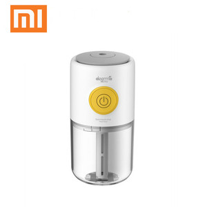 Image 1 - Original xiaomi Mijia deerma Mini USB Air Humidifier quiet Air Purifying Colorful lights can adding aromatherapy for car home