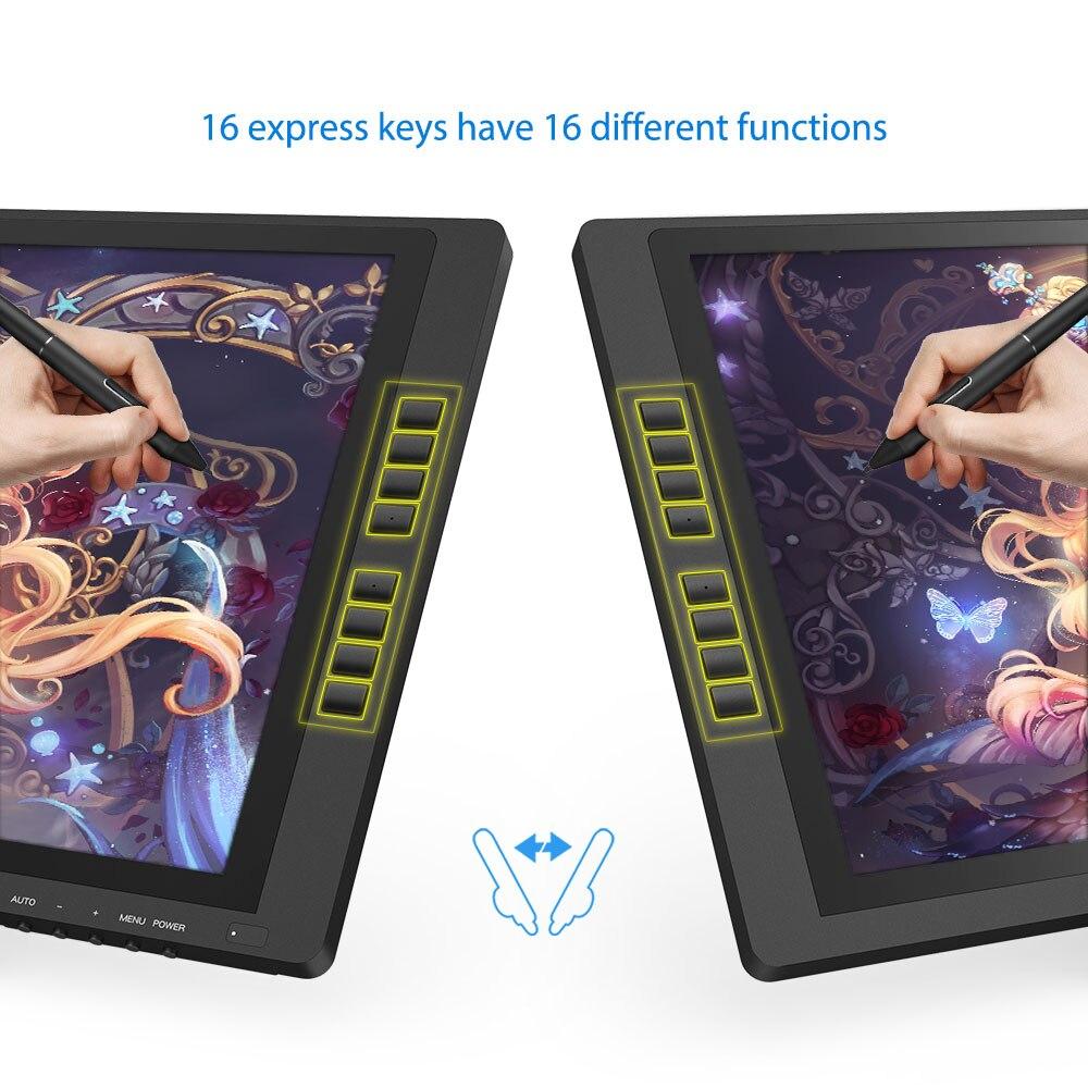 XP-Pen Artist22 EPro tableta gráfica tableta grafica para dibujar Monitor Digital con teclas de acceso directo y soporte ajustable 8192 - 3