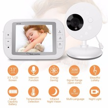 babykam baby monitor for newborns video nanny 3.5 inch IR Night Vision Temperature Sensor Lullaby Intercom baby cam radio nanny