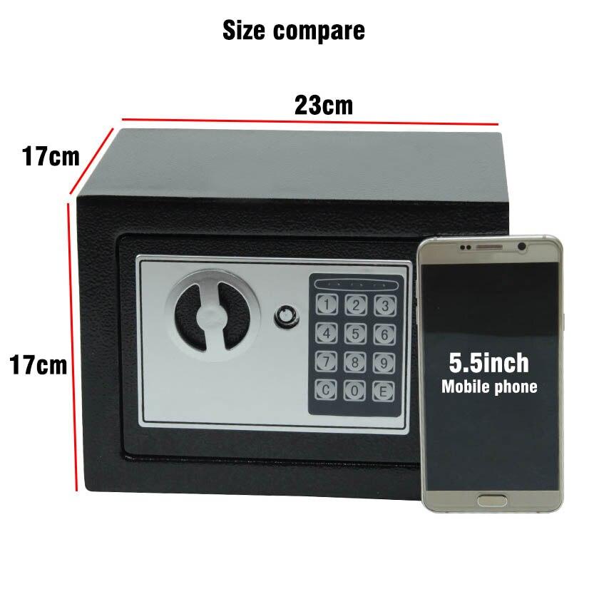 Caja de Seguridad Digital, caja pequeña de seguridad para el hogar, caja de seguridad para dinero, caja de seguridad para guardar joyas en efectivo o documentos con llave - 2