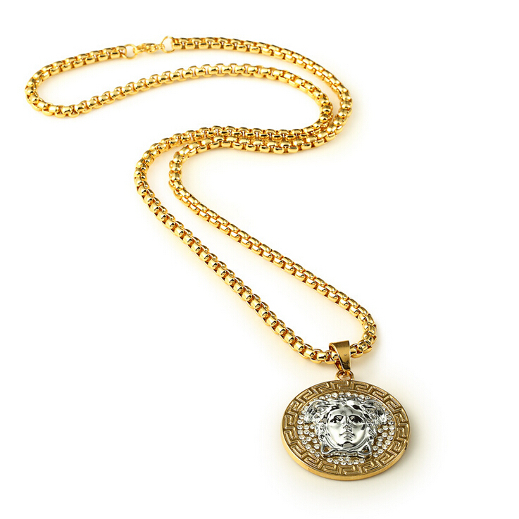 Hot sale special custom gold necklace Men real 18k gold jewelry