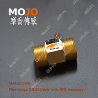 Free Shipping MJ HZ25WB 1 Accuracy 10 Water Flow Switch Hall Flow Sensor Water Flow Rate