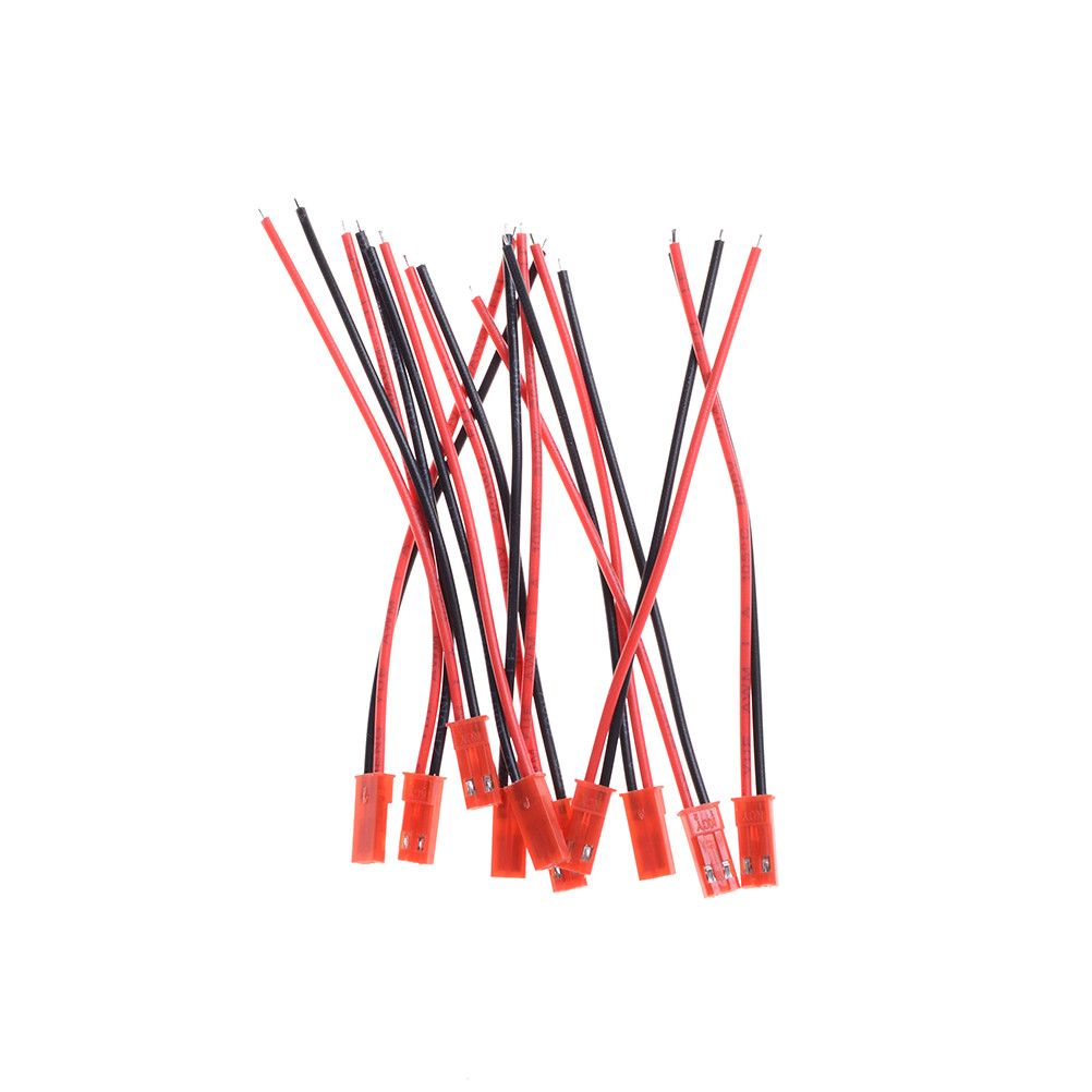 Hot 10 Pairs 100mm <font><b>JST</b></font> Connector Plug Cable Male+Female Wires for RC <font><b>Battery</b></font>
