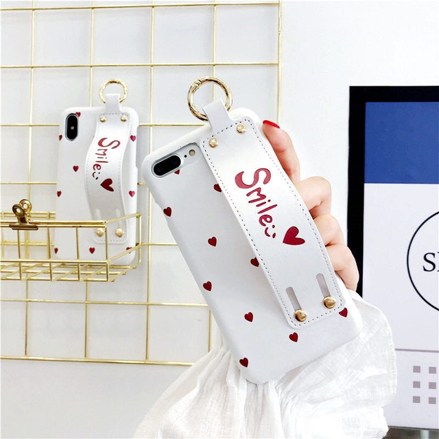 Hide Hand Strap Stand Holder Phone Case For iPhone
