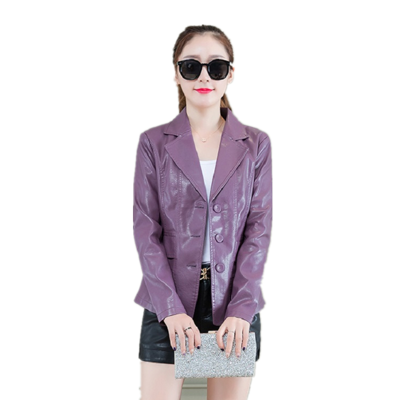 Fashion Soft PU   Leather   Jacket Autumn Winter Women Plus Size Motorcycle   Leather   Coats Elegant Office Ladies Outerwear M-4XL