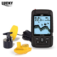 LUCKY FF718Li 2 In 1 Wired Wireless Sonar Transducer Fish Finder Portable Waterproof Fishfinder 328ft 100m