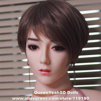 Oral Sex Doll Head For Chinese Love Dolls Sexy Doll Silicone Heads Realistic Masturbator Sexual Products For Dolls 140cm 170cm