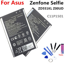 C11P1501 battery FOR Asus Zenfone Selfie ZD551KL 3000mAh lithium battery li-ion polymer battery High capacit skinbox asus zenfone selfie zd551kl