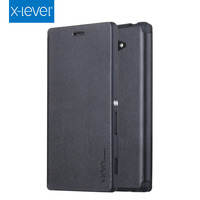 2016 Best Selling High Quality Leather Phone Case Cover For Sony Xperia M5 Filp Cover