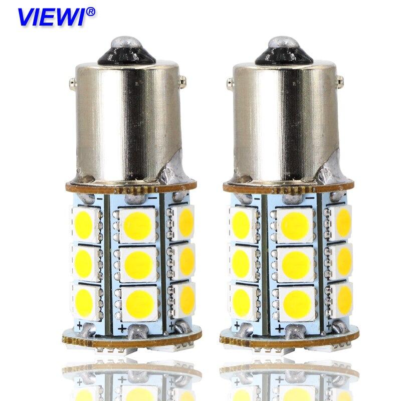 4X S25 1156 BA15S P21W DC 12 24 Volt Truck Brake Lights Reverse Lamp DRL Car Tail Bulb 12v 24v Auto Turn Light 5050 24leds