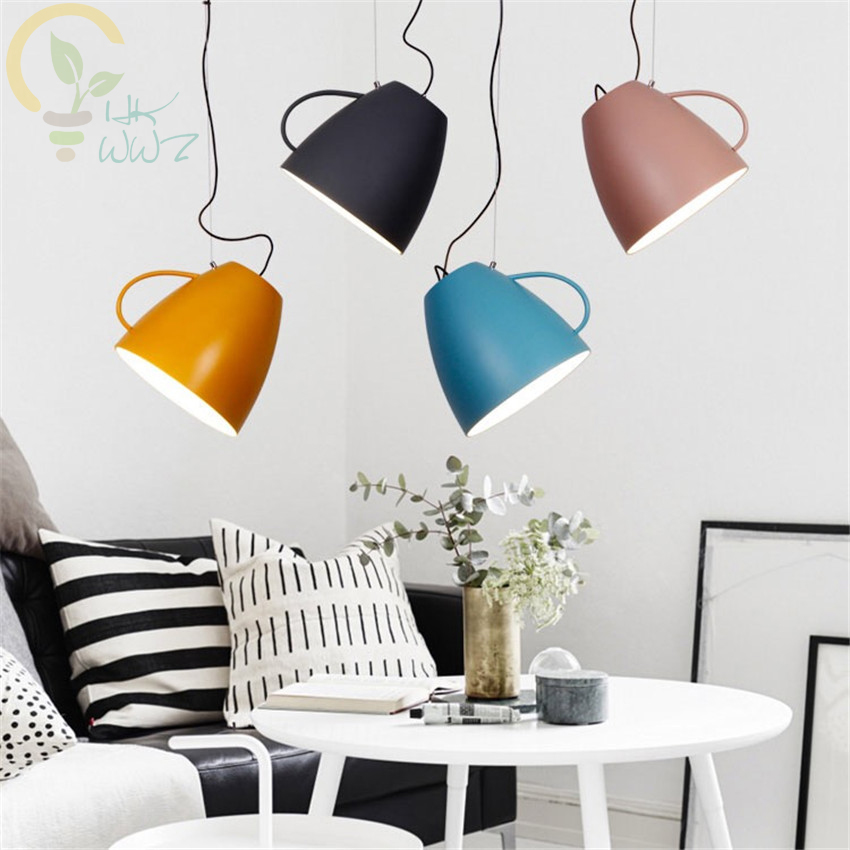 Modern Nordic Light luminaire suspendu Teacup Pendant Lamps Restaurant Living Room Bedroom Decorate Pendant Lights Stair Light