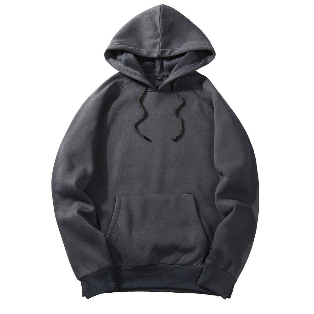2020 Autumn Fashion Hoodie Male Warm Fleece Coat Hooded for Men 4