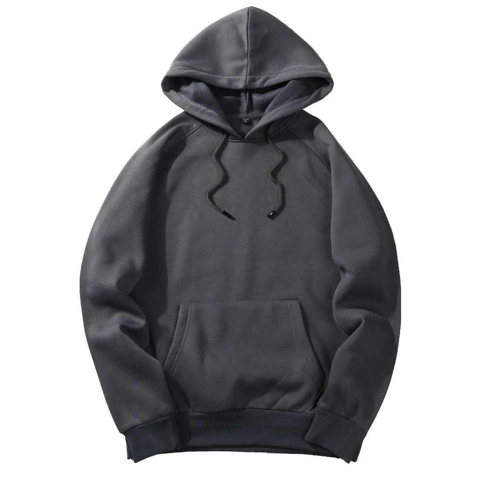 Fgkks 새로운 가을 패션 후드 남성 따뜻한 양 털 코트 후드 남자 브랜드 후드 티 스웨터 eu 크기