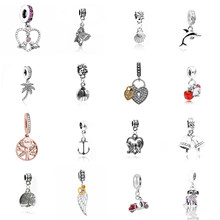 The Latest Anchor FamilyTree Hanging Wing Motorcycle Dog Snow White Apple Loving Ladybug Coconut Tree Dolphin Bell Shell pendant(China)