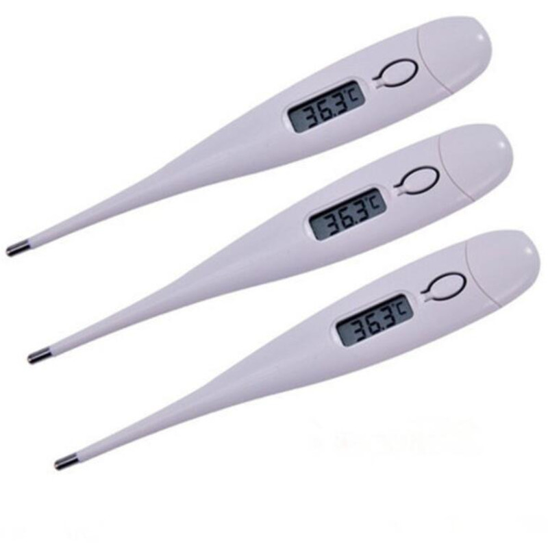 Wallfire Digital Medical Thermometer 1 Pack Kids Flexible Tip Oral Armpit Temperature Meter with Fever Indicator for Newborns Children Adults Oral Armpit Temperature Meter Baby Body Thermometer
