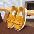 2016 New Brand Bowknot Kids Casual Shoes Fashion Children PU Leather Autumn Flat Girls Princess Sneakers Soft Soles Size 27~37