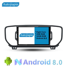 autoradio 9 Eight Core Android 8.0 2G RAM 1024*600 CAR Navigation For KIA/ 2016  KX5 / SPORTAGE With Stereo Radio Audio