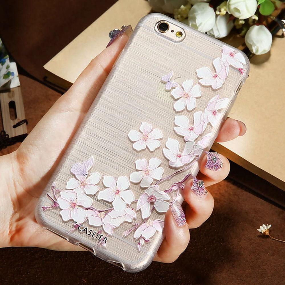 CASEIER 3D Art Case za iPhone 7 5 Plus iPhone 6 6s Plus TPU Poklopac - Oprema i rezervni dijelovi za mobitele