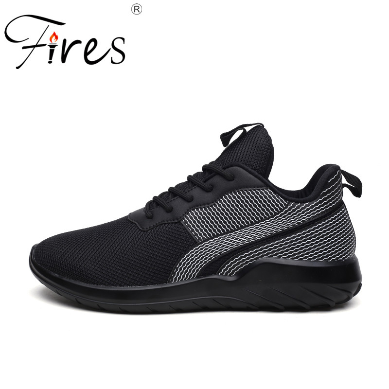 Fires Men Sport Shoes Summer Running Shoes Breathable Black Man