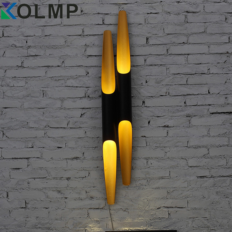 бра coltrane double цена - Vintage Coltrane LED Wall Light for Home Aluminum TubePipe Black&Gold Single Head/Double heads Postmodern Nordic Wall Scone