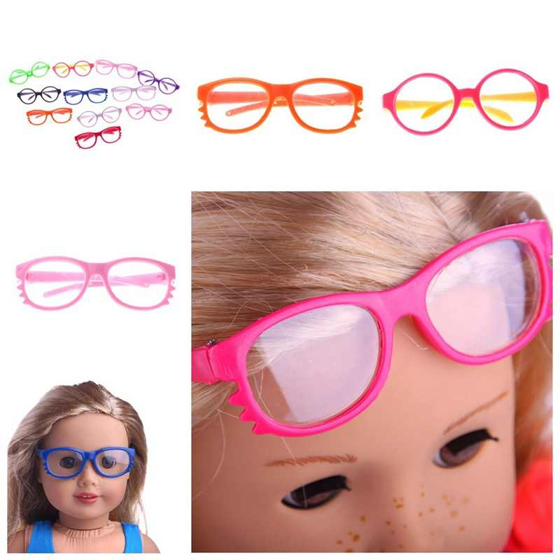 2018 New Glasses Fit 18 Inch American Doll Round Glasses Doll Accessories