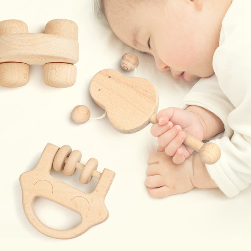 Puzzle Jouets intellectuelle de enfants Montessori Jouets mis en Soins Infirmiers En Bois En Bois Hochets Bébé amusant et intéressant jouets